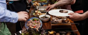 Durhamstown Castle wedding food