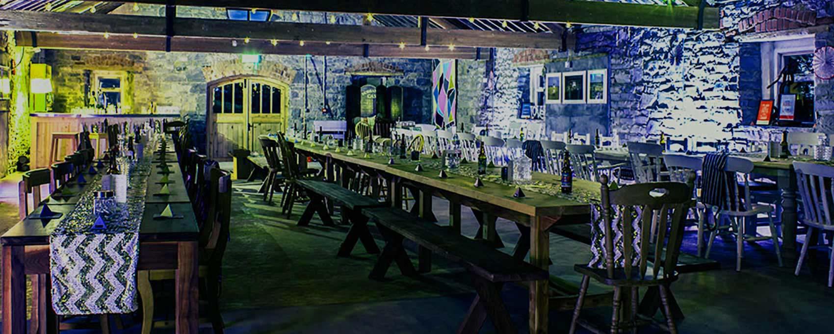 Durhamstown Castle wedding venue - great barn